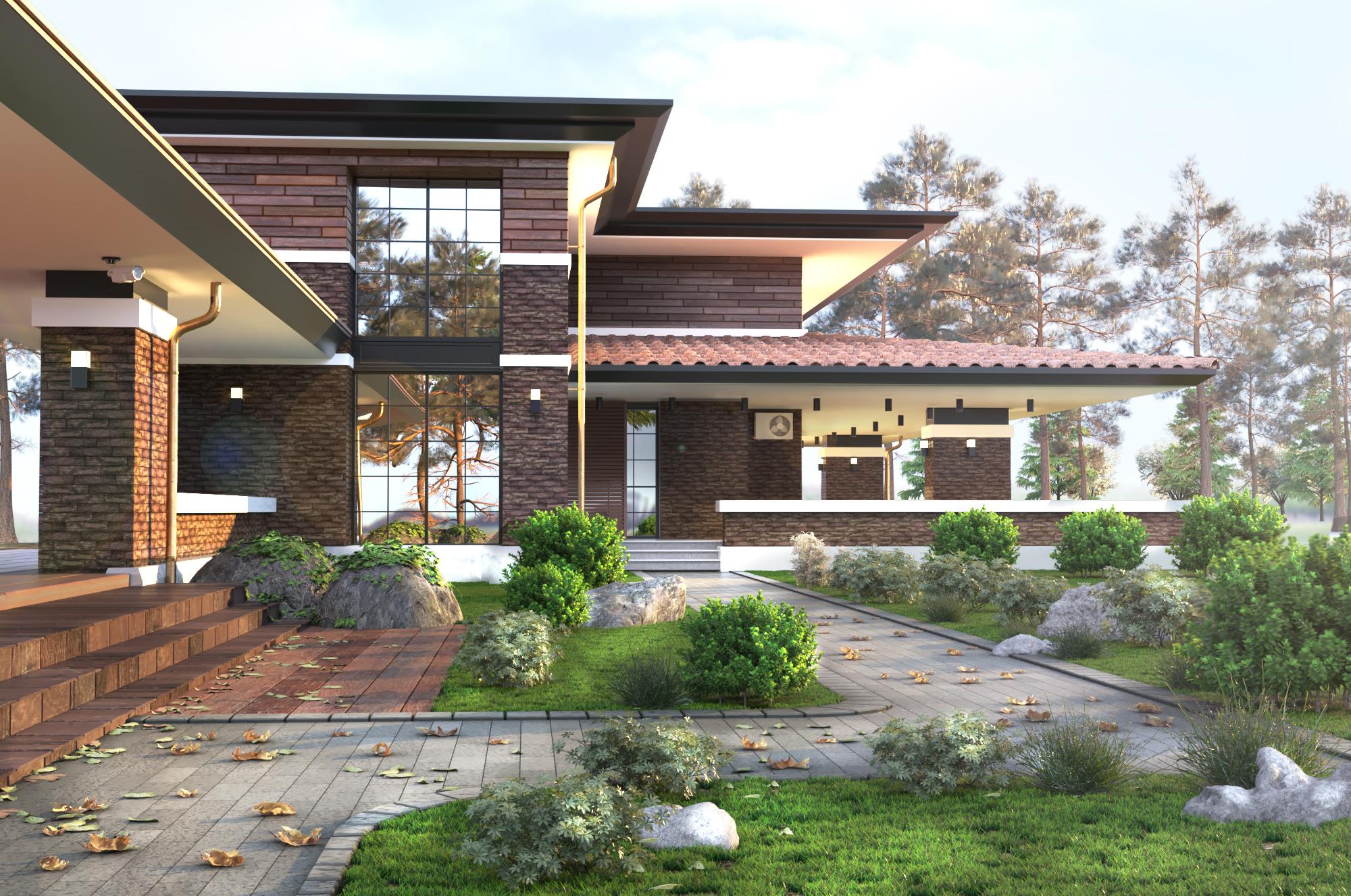 Проект виллы, проекты домов и коттеджей от Архитектурного бюро Архилюкс