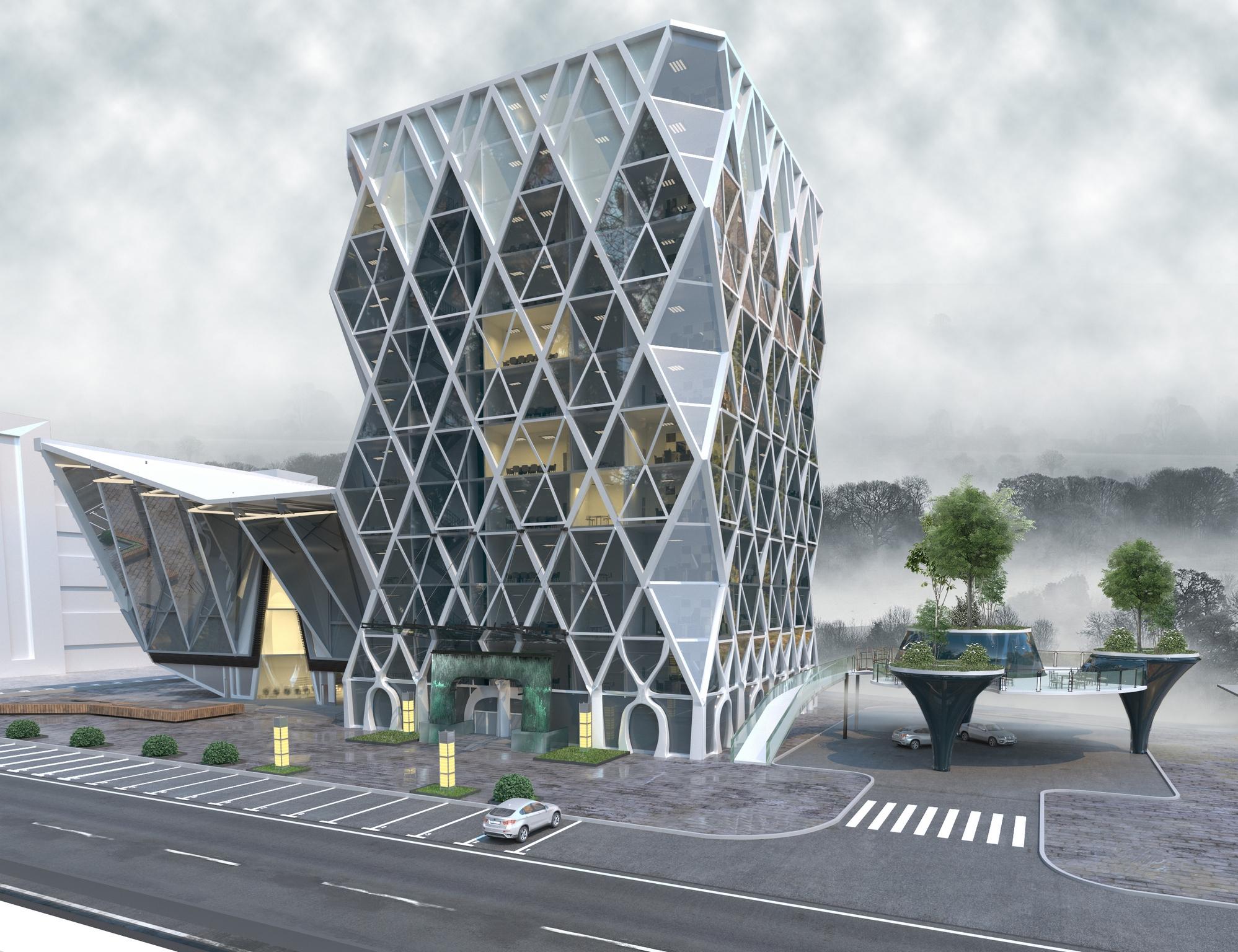 Современные фасады многоэтажных домов и проекты многоэтажных домов