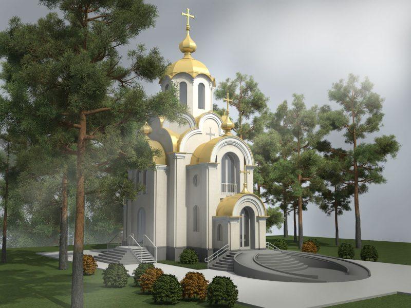 Проект храма, визуализация