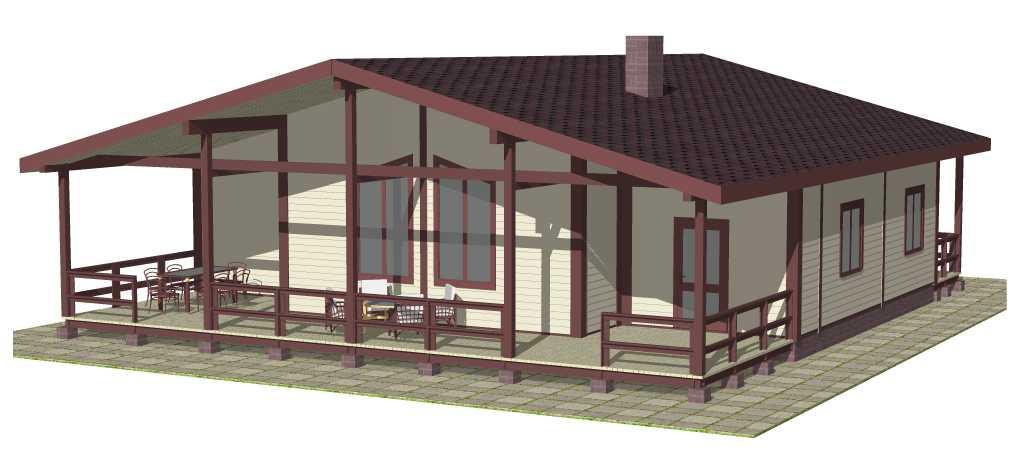 Типовой проект Гостевого дома №1