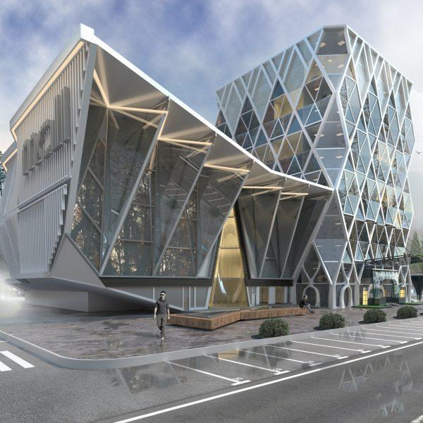 проект офисного здания - Вид А