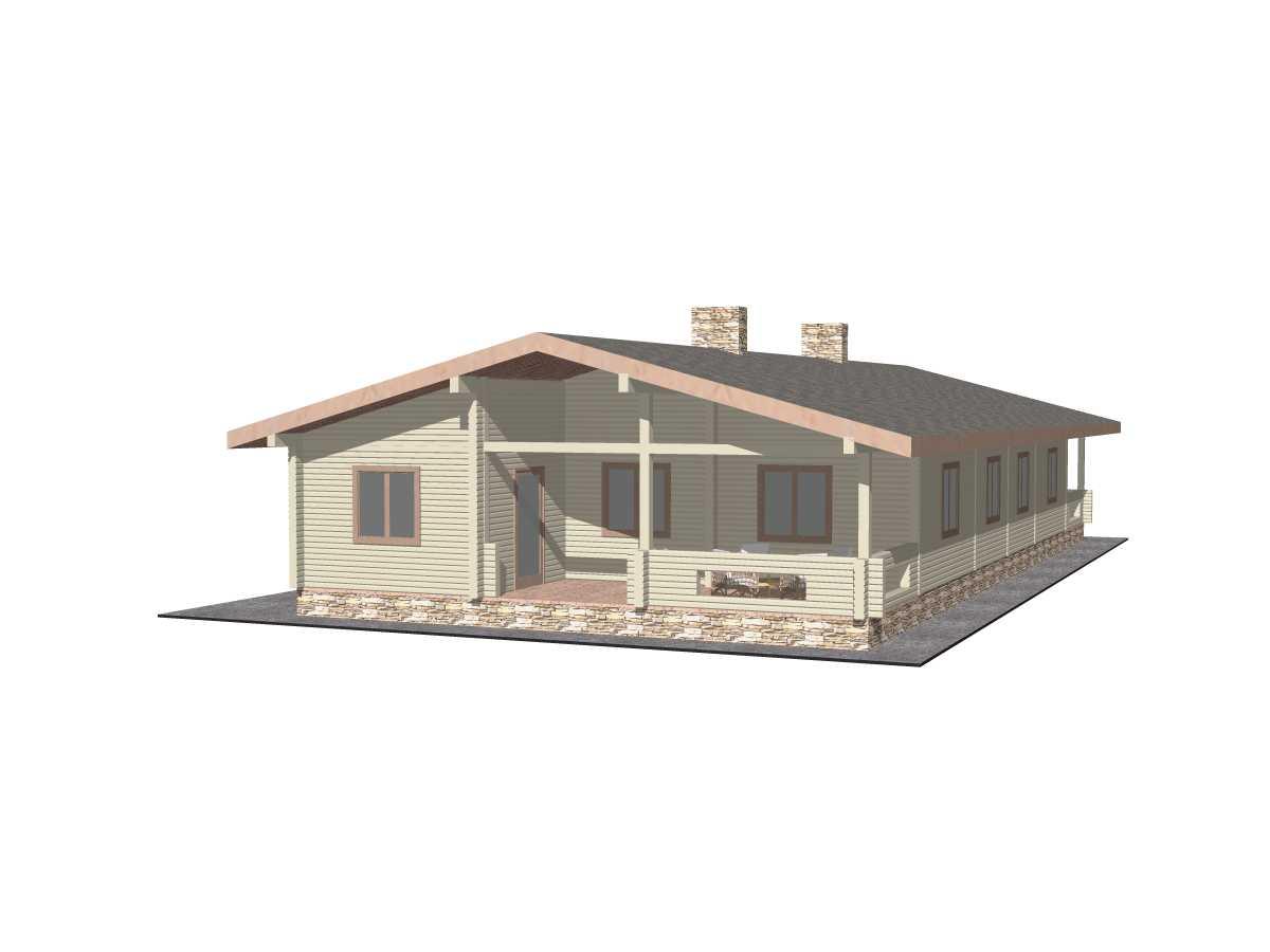 Типовой проект Гостевого дома №3