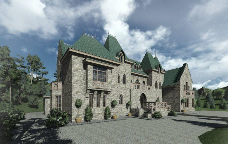 Проект замка и проекты домов в виде замка проектирует архитектор Андрей Максимов