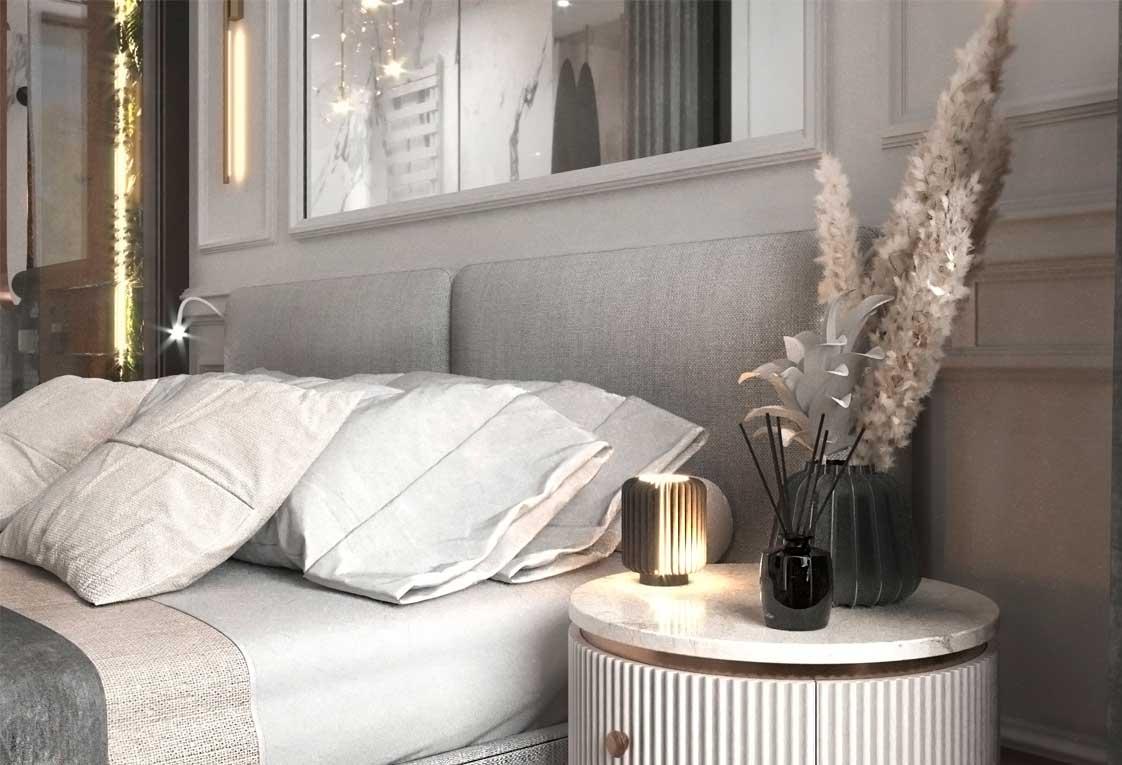 Дизайн интерьера квартиры — Визуализация спальни — 33