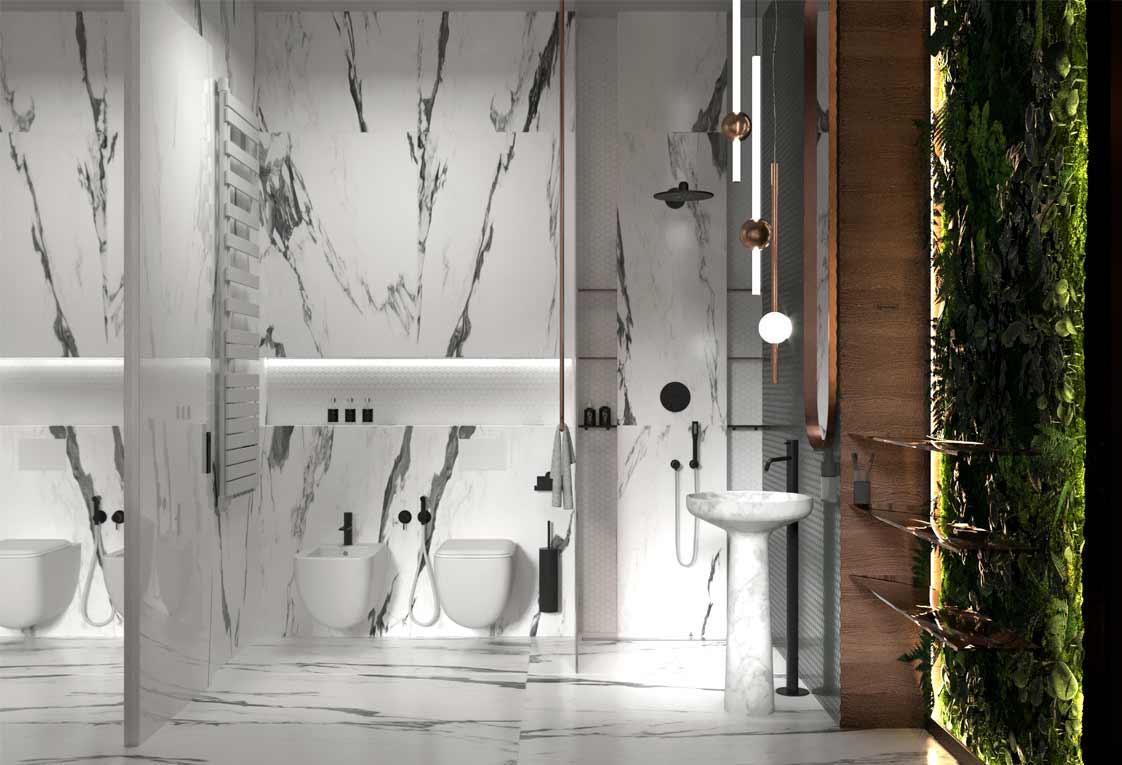 Проект квартиры, Украина — Ванная комната — 42