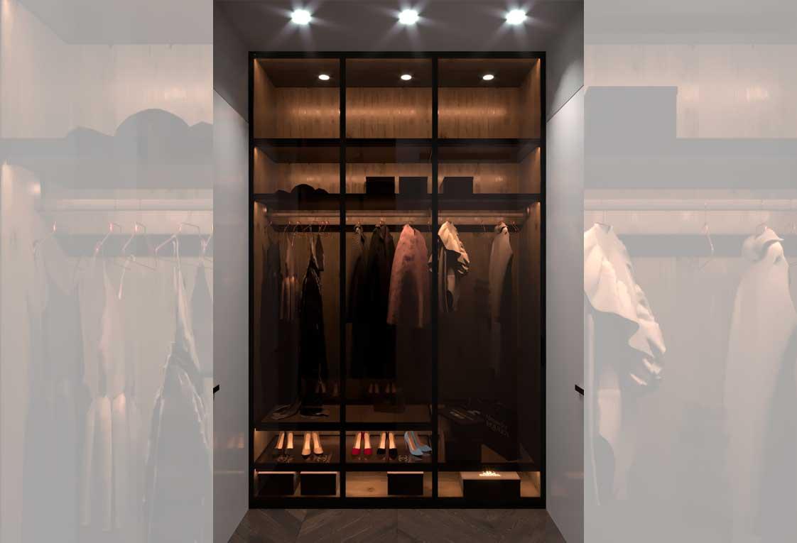 Дизайн интерьера — Гардеробная шкаф — 37