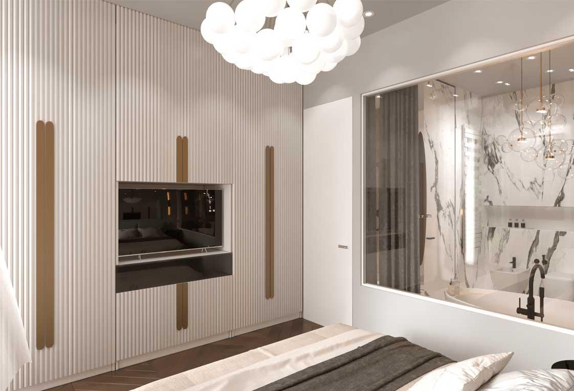 Дизайн интерьера квартиры — Визуализация спальни — 32