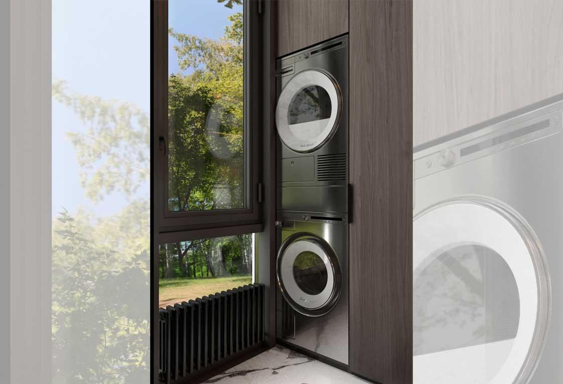 Проект квартиры — Расположение стиральной и сушильной машин — 16