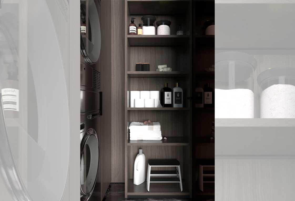 Визуализация проекта квартиры — Стиральная и сушильная машины, шкаф — 18