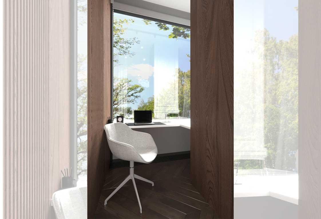 Дизайн интерьера — Балкон в спальне — 31