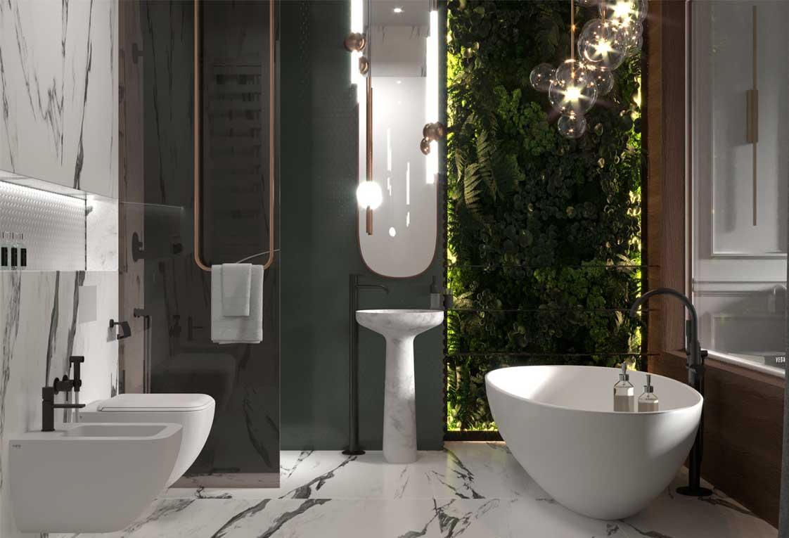 Дизайн проект квартиры — Современная ванная — 39