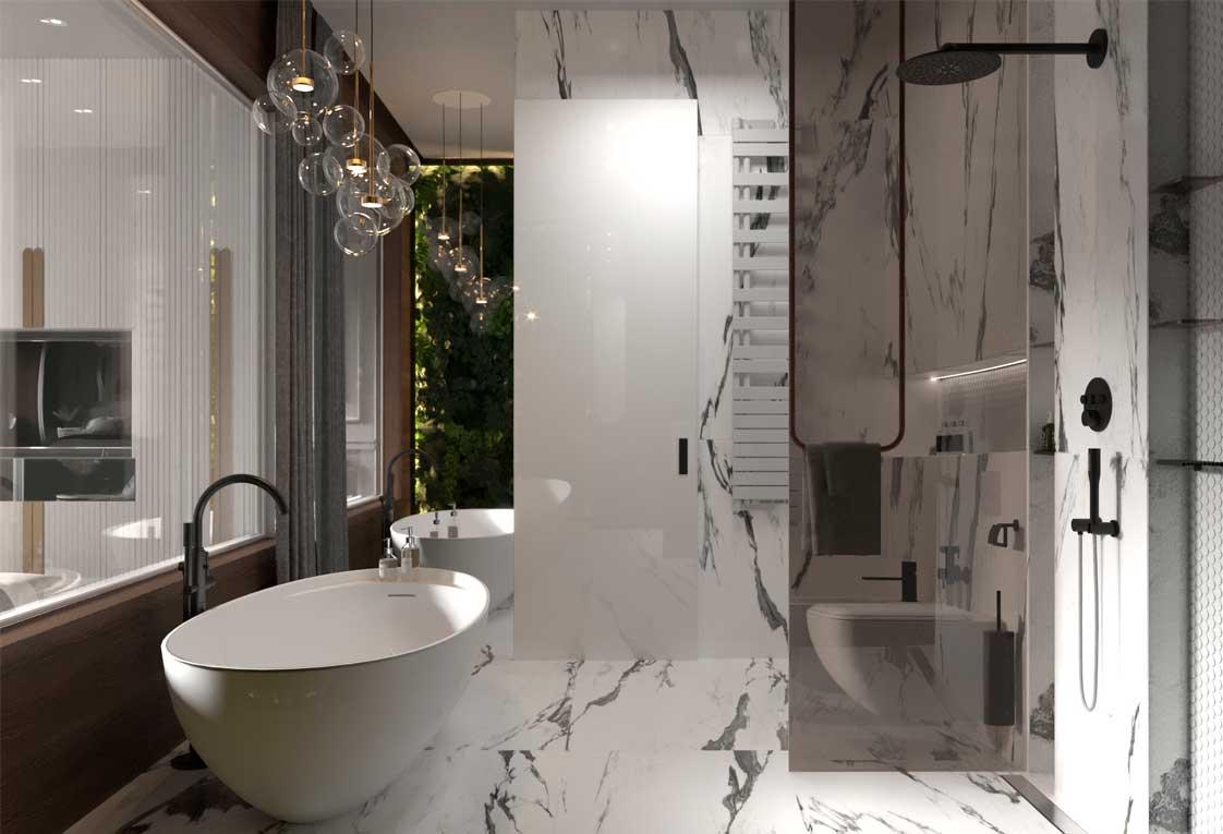 Дизайн планировка квартиры — Ванная комната — 41