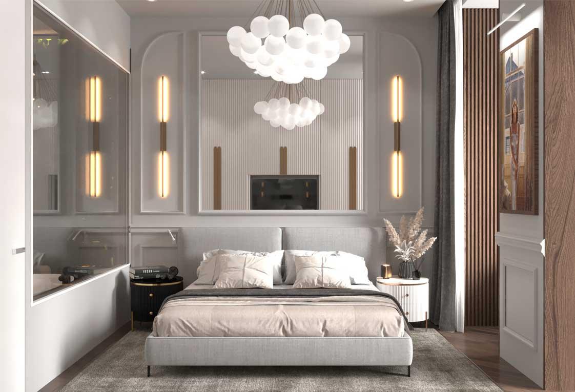 Дизайн интерьера квартиры — Визуализация спальни — 34