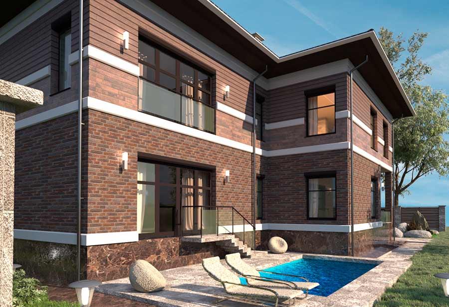 Заказать проект загородного дома и строительство дома под ключ можете в архитектурном бюро Архилюкс