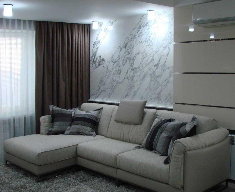 Дизайн интерьера квартиры гостиной в двухкомнатной квартире, Киев, Украина - архитектура и дизайн от Архилюкс