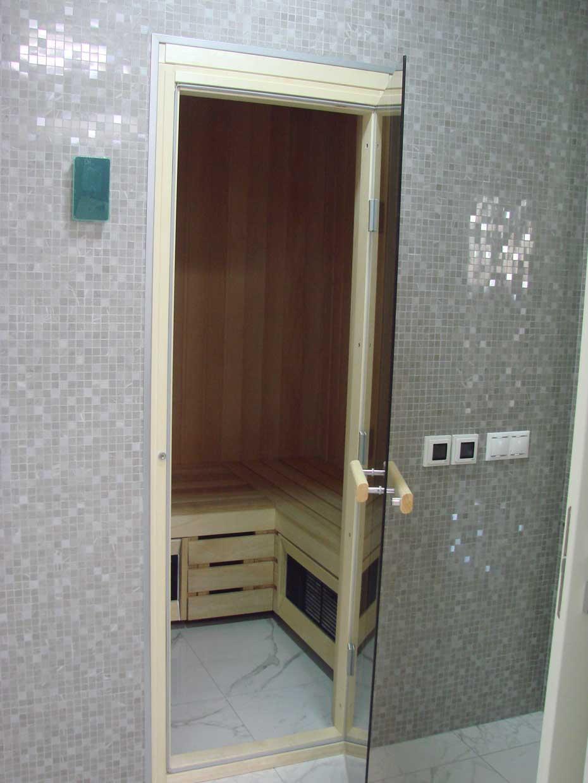 Сауна в дизайне интерьера квартиры-14